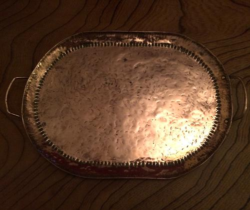 Oval John Pearson Copper Arts & Crafts Tray C.1895 (1 of 1)