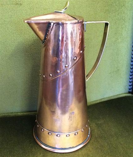 Wmf Art Nouveau Copper Claret Jug (1 of 1)