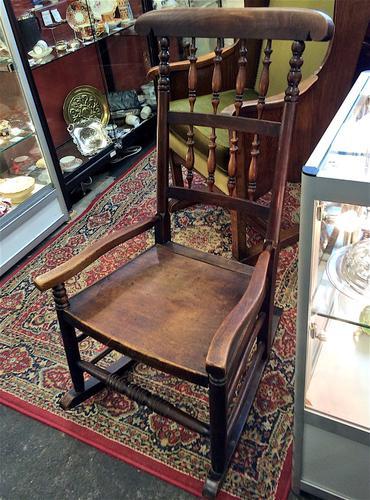 19th Century Lancashire Nursing Rocking Chair (1 of 1)