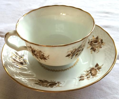 William Billingsley Decorated Swansea Cup & Saucer (1 of 1)