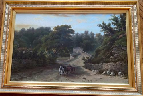 Bridge On Brungerley Lane E Cawthorne Oil On Board 1871 (1 of 1)