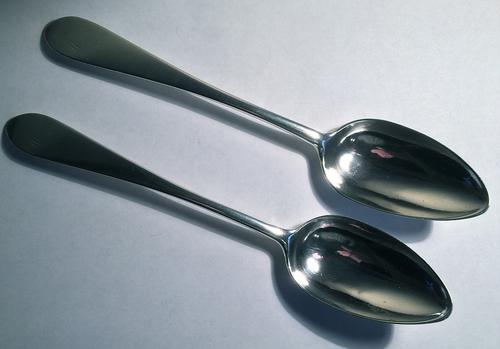 Scottish Provincial Celtic Point Table Spoons Greenock c.1820 (1 of 1)