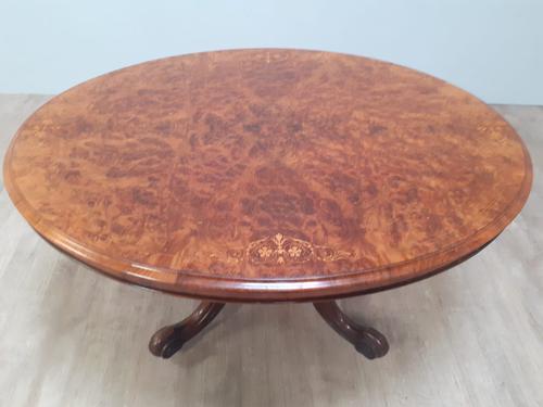 Victorian Burr Walnut Loo Table (1 of 5)