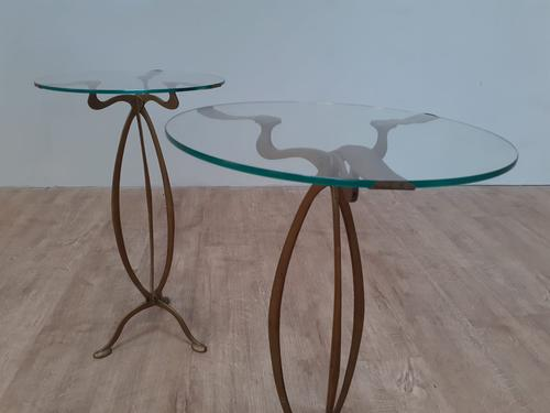 Pair of Brass Art Nouveau Lamp Tables (1 of 4)