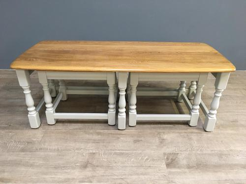 Elm Ercol Nest of Three Tables c.1790 (1 of 6)
