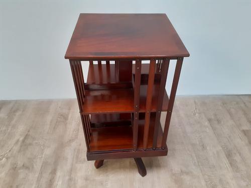 Inlaid Mahogany Revolving Bookcase c.1900 (1 of 4)