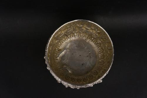Burmese Silver Thabeik Bowl c.1890 (1 of 5)