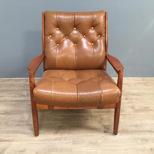 1960s Model Lacko Leather Chair (1 of 6)