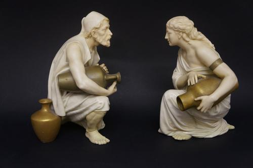 Pair of Royal Worcester Water Carrier Figures (1 of 5)