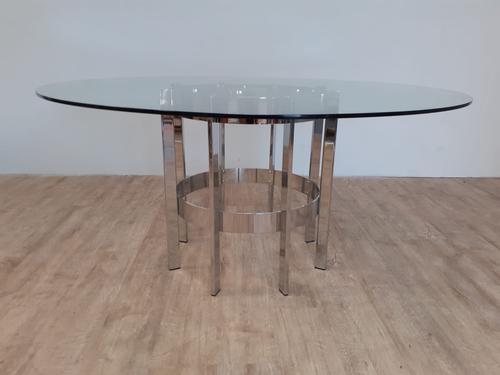 Merrow Associates Chrome Dining Table c.1970 (1 of 4)