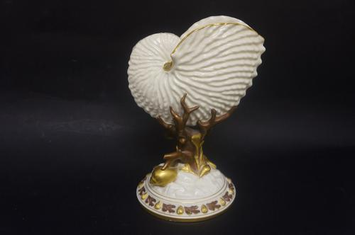 Late Victorian Royal Worcester Nautilus Shell Vase (1 of 5)