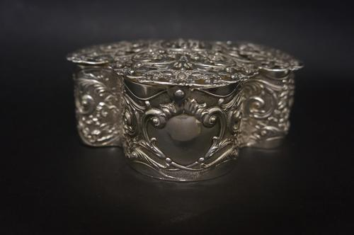 Edwardian Silver Trefoil Potpourri Box (1 of 5)