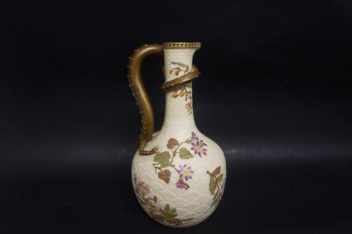 Royal Worcester Floral Jug with Lizard Feature (1 of 5)