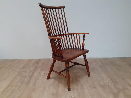 Mixed Wood 19th Century Comb Back Windsor Chair (1 of 5)