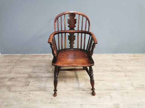 19th Century Yew Wood Windsor Chair (1 of 7)