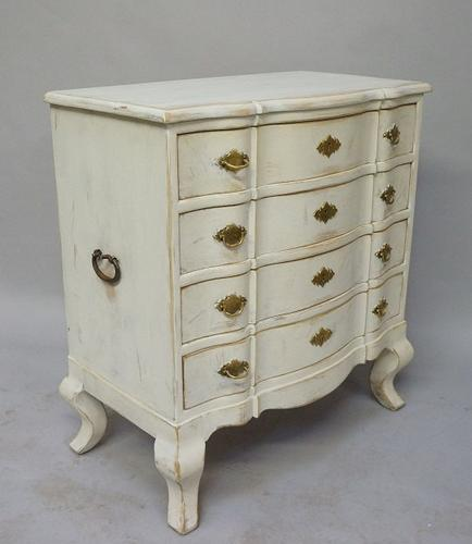 Vintage Painted Swedish Baroque Style Chest of Drawers (1 of 1)