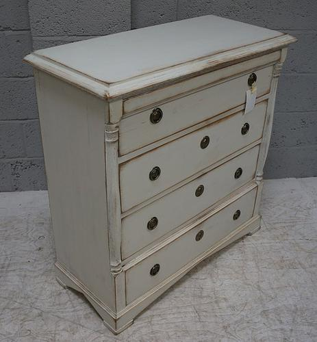 Vintage Continental Painted Pine Chest of Drawers (1 of 1)