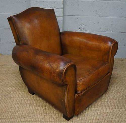 Vintage Brown Leather Club Armchair (1 of 1)