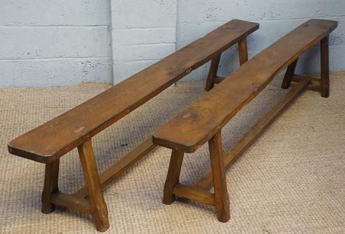 Pair of 19th Century Walnut Benches (1 of 1)