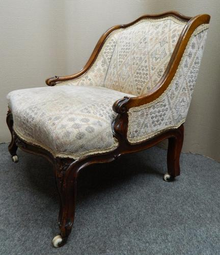 Victorian Low Back Nursing Chair c.1880 (1 of 1)