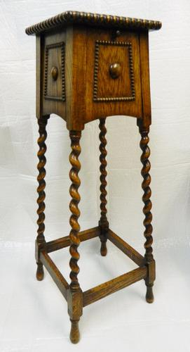 Unusual Oak Plant Stand / Hall Stand c.1920 (1 of 1)