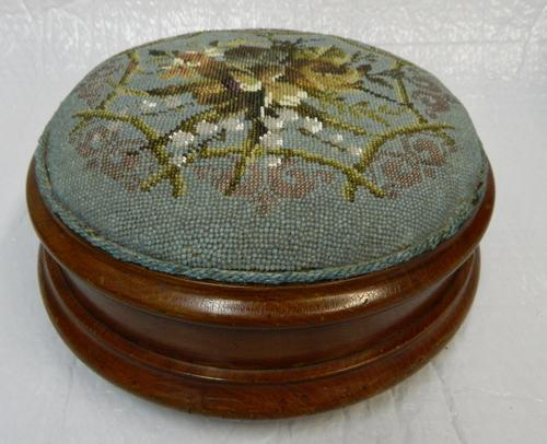 Bead Work Foot Stool c.1880 (1 of 1)