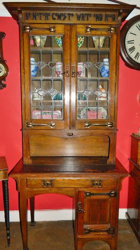 Arts & Crafts Oak Bookcase (1 of 1)