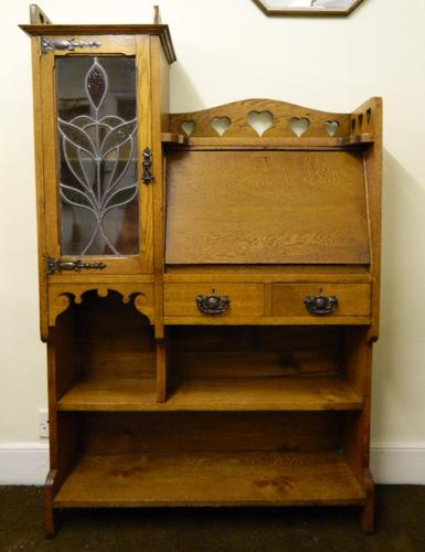 Arts & Crafts Bureau Bookcase c.1900 (1 of 1)