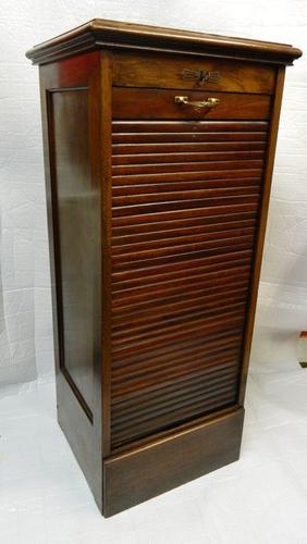 Mahogany Tambour Front Filing Cabinet c.1890 (1 of 1)