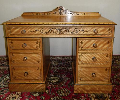 Satinwood Desk c.1890 (1 of 1)