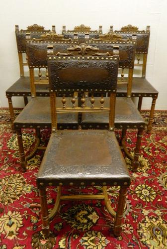 Set of 6 Arts & Crafts Dining Chairs (1 of 1)