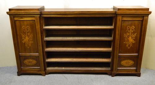 Large Inlaid Mahogany Bookcase c.1890 (1 of 1)