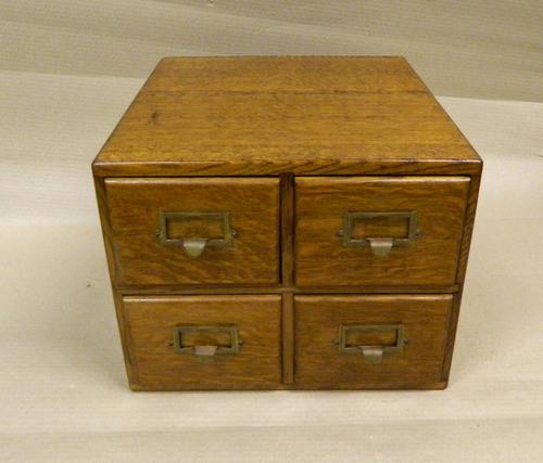 Small Oak Filing Cabinet c.1900 (1 of 1)