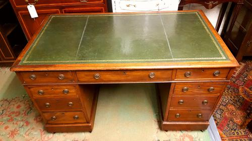 Antique Mahogany Pedestal Desk (1 of 1)