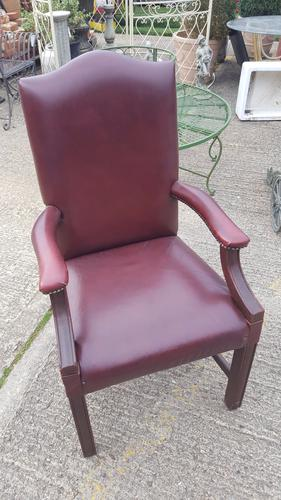 Mahogany Red Leather Gainsborough Desk Chair (1 of 1)