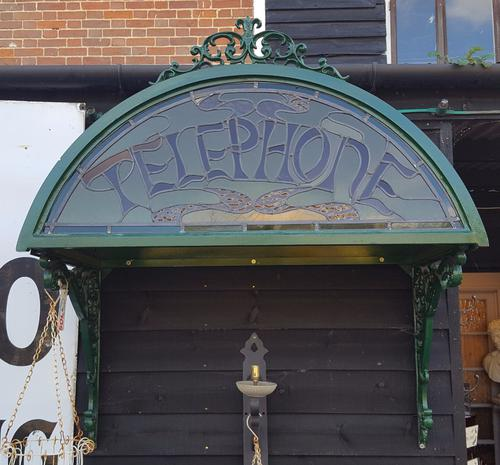 Unusual Metal Framed Telephone Canopy (1 of 1)