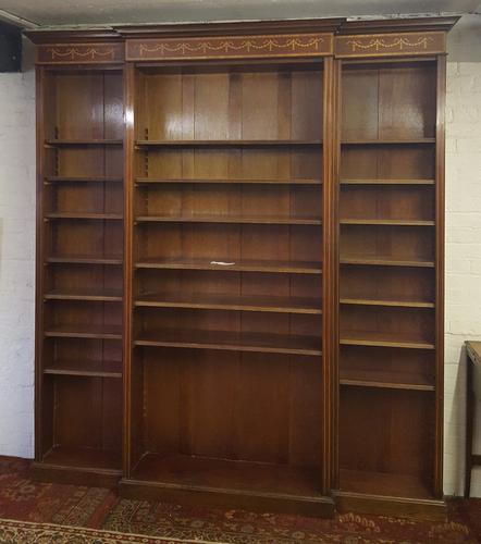 Large Regency Design Breakfront Bookcase (1 of 1)