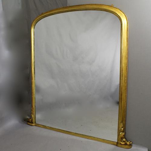 19th Century Overmantel Mirror (1 of 1)