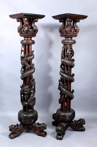 Pair of 19th Century Chinese Stands (1 of 1)