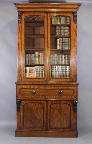 Mid 19th Century Mahogany Secretaire Bookcase (1 of 1)