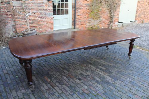 Large Oak Extending Dining Table (1 of 1)