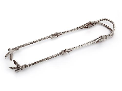 Unusual & Good Quality Victorian Silver Plated Ice Tongs (1 of 4)