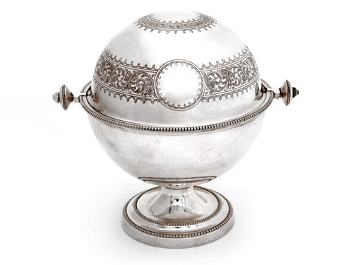 Antique Elkington & Co Silver Plated Revolving Top Butter Dish (1 of 5)