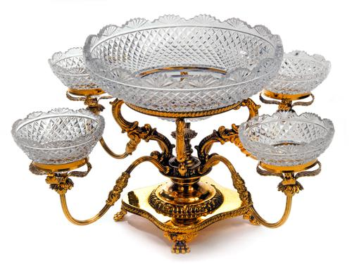 Late 19th Century Four Branch Epergne (1 of 1)