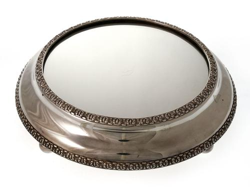 Victorian Silver Plated Mirror Plateau Cake Stand (1 of 1)