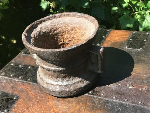 Large 17th Century Cast Iron Mortar (1 of 1)