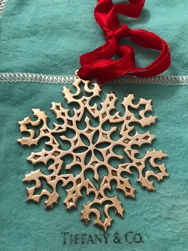 Vintage Tiffany & Co. Sterling Silver Snowflake Ornament (1 of 1)