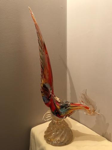 Murano Glass Pheasant (1 of 1)