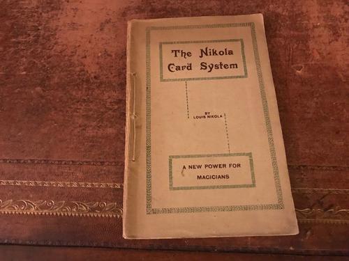 the Nikola Card System - a RAre & Desirable Collectors Magic Book 1927 London (1 of 1)