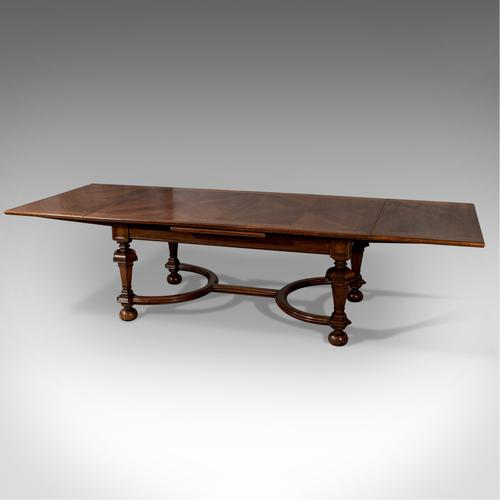 Antique Liberty of London Quality Extending Dining Table 10' Walnut & Oak c.1900 (1 of 1)